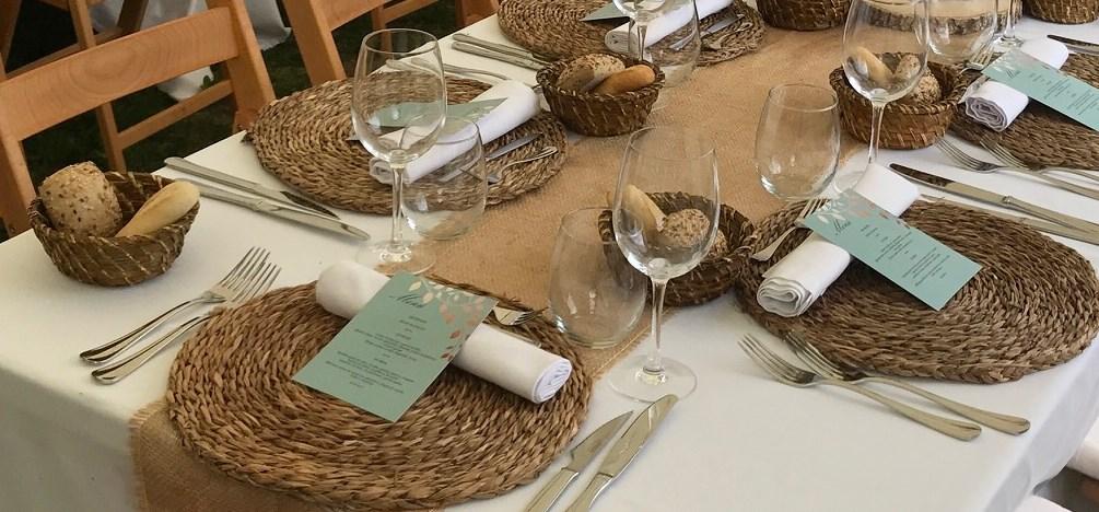 mesa decoración campestre